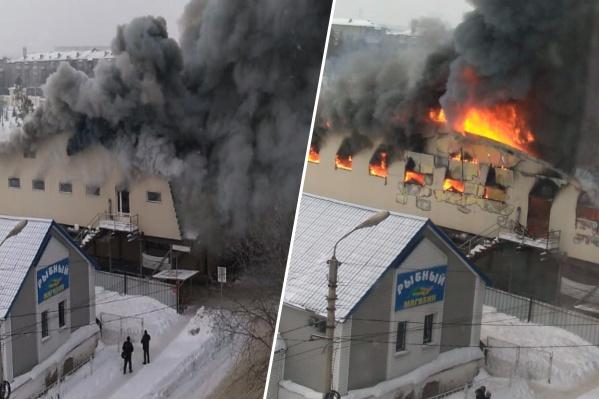 Здание выгорело полностью