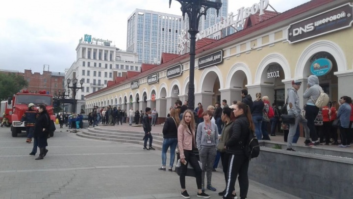 В Уфе из-за пожара в торговом центре эвакуировали 200 человек