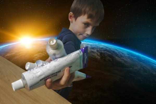 Юный дегустатор Костя утверждает: космический творог похож на курицу