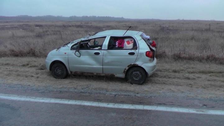 В Курганской области на трассах перевернулись две машины