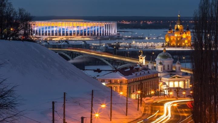 Фото дня. Нижний Новгород засыпает— просыпается красота