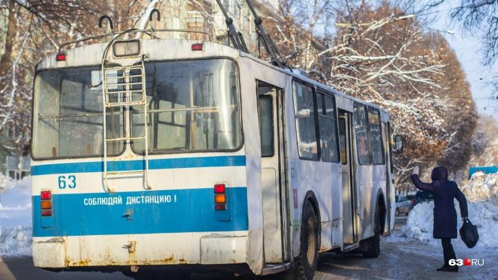 Стало известно, в каких самарских троллейбусах установят турникеты для оплаты проезда