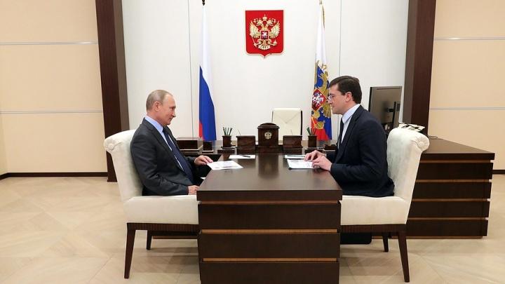 Стало известно, о чём говорили Владимир Путин и Глеб Никитин