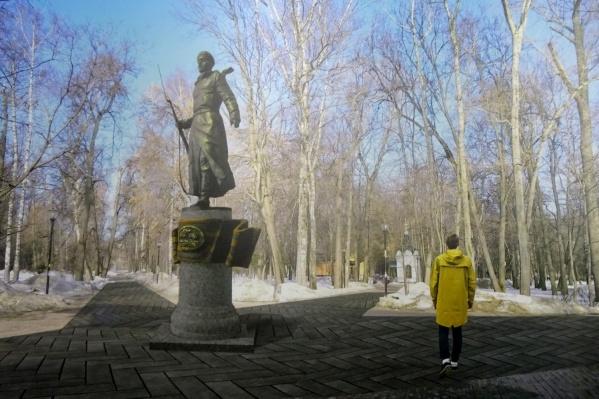 Один из вариантов памятника (в голосовании — №2) выглядит на эскизе вот так