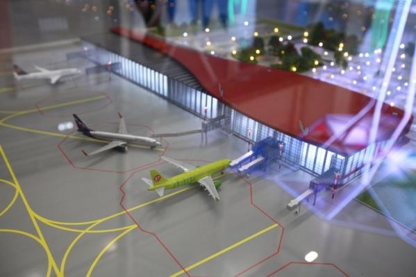 Макет нового аэропорта показали на российско-казахстанском форуме