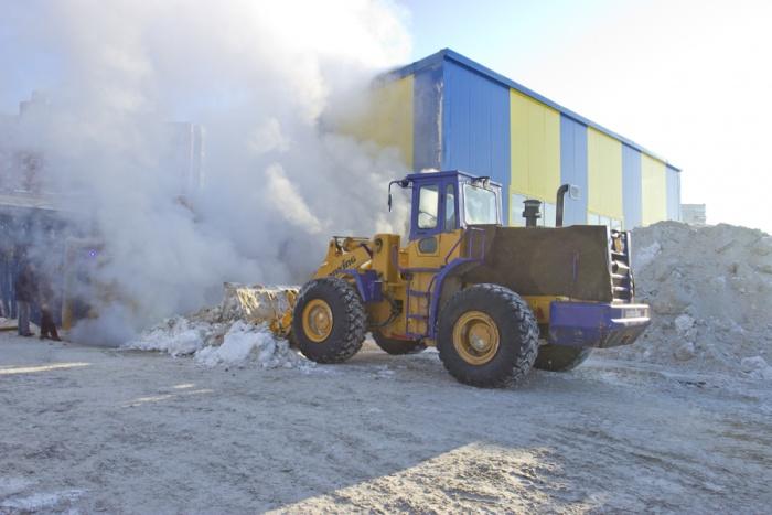 Снегоплавильная станция на ул. Федосеева