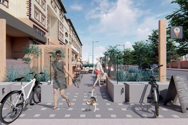Архитекторы Тюменского индустриального университета, разработавшие этот проект, предлагают сделать из улицы-коридора«пульсирующее пространство»