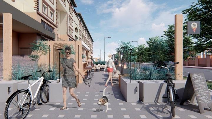 Как может измениться улица Ленина: сравниваем реальность с фантазиями тюменских архитекторов