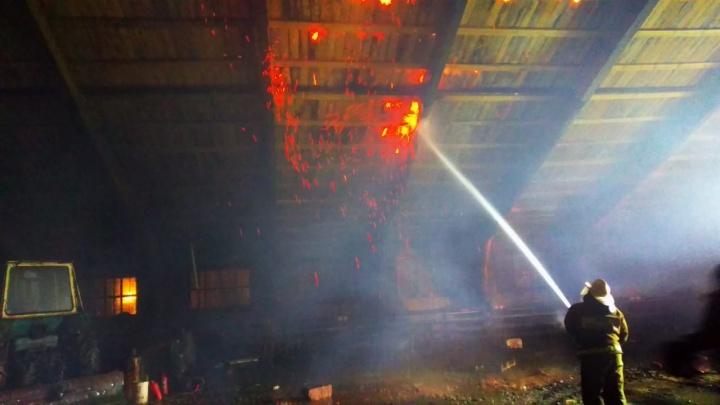 Пламя над головой. Тевризский пожар в пяти снимках от МЧС