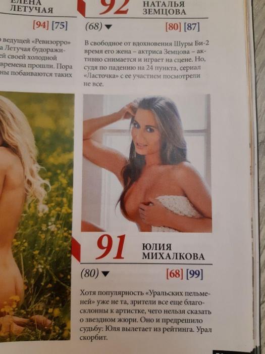 Редакция журнала сообщила, что Юлия выбывает из рейтинга