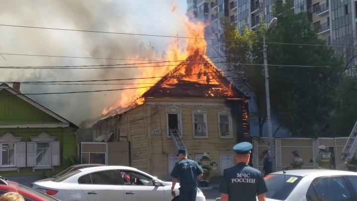 Старая Самара в огне: в центре города выгорел еще один дом