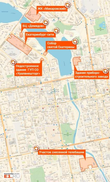 Карта участков под контролем УГМК-Холдинга