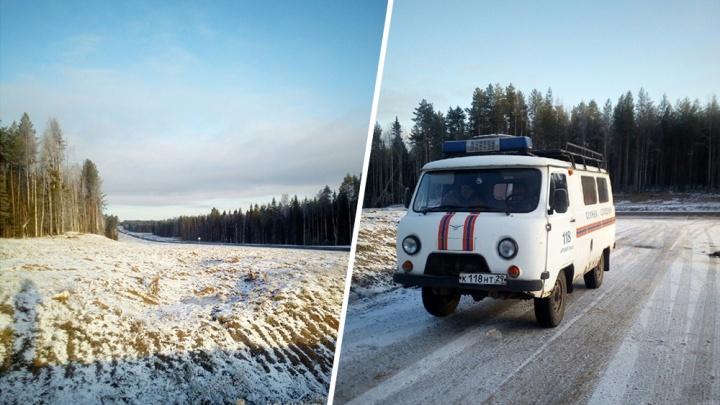 После ДТП в Холмогорском районе пропал пенсионер из Архангельска — его ищут четвёртый день
