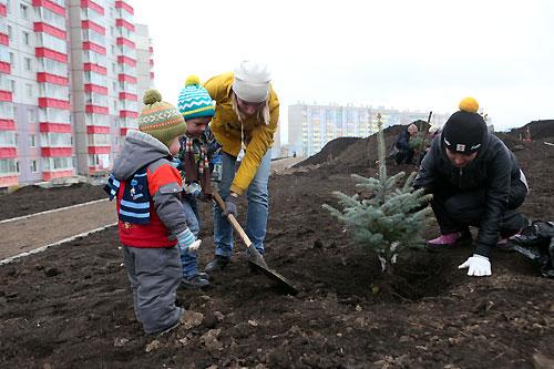 В «Покровском» разбивают сад с необычными газонами для занятий школьников