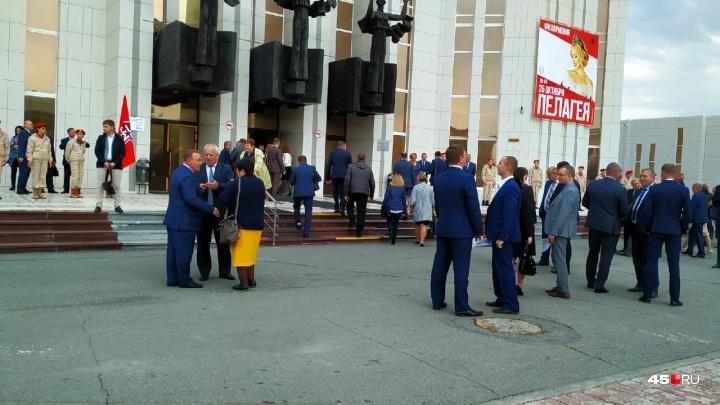 Политическая элита Курганской области приехала на инаугурацию Шумкова