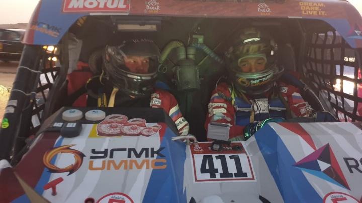Сергей Карякин отстал от лидера «Дакара» на 40 минут по итогам девяти этапов