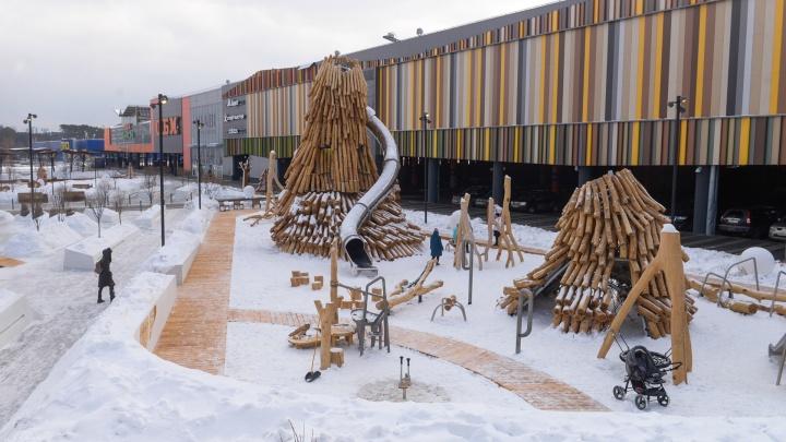 Сказочный лес, горка-великан и волшебные трубы: гуляем по паркув скандинавском стиле у «Меги»