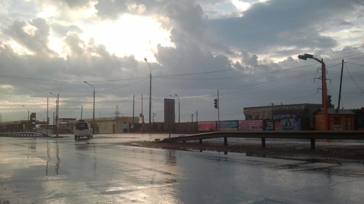 Официально закрыт поворот с Енисейского тракта на бульвар Солнечный