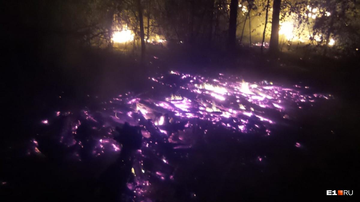 Пламенеют несколько очагов