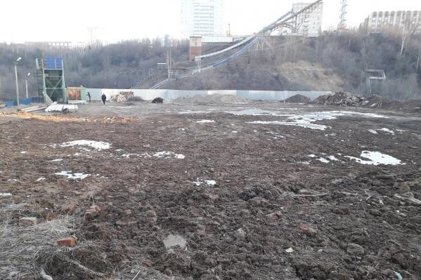 Спортивную базу на этом месте хотят построить до конца 2019 года