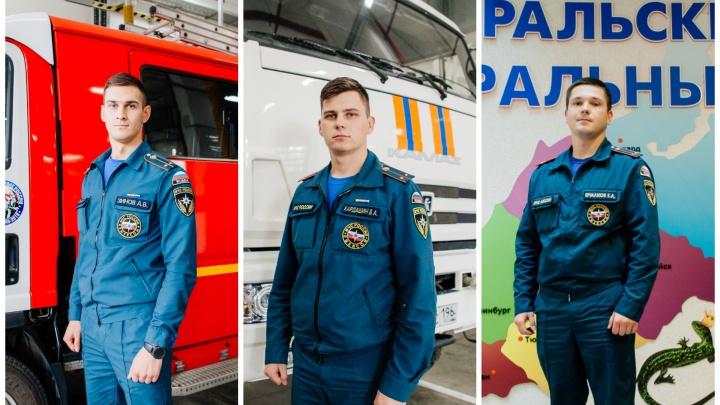 «В первый день службы вынес из пожара троих детей»: 6 молодых лейтенантов с Урала — о службе в МЧС