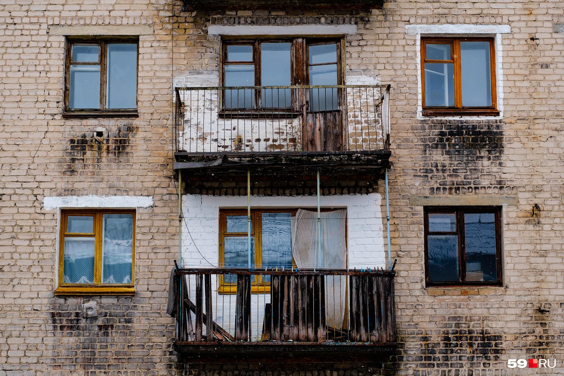 В некоторых домах жилыми были всего несколько квартир