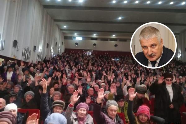 Инцидент произошёл во время встречи с жителями в ДК «Волжский»