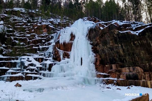 Таким водопад должен стать, когда вода замерзнет