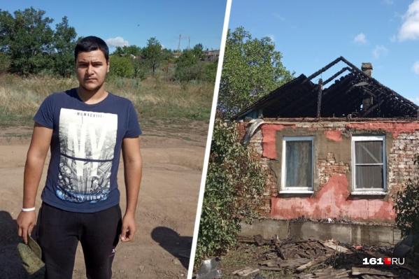 Крыша дома выгорела полностью