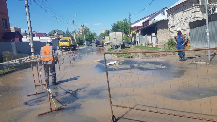 В Самаре улицу Мориса Тореза перекрыли на две недели