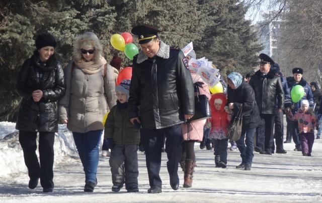 Главный госавтоинспектор Башкирии прогулялся с детьми-инвалидами