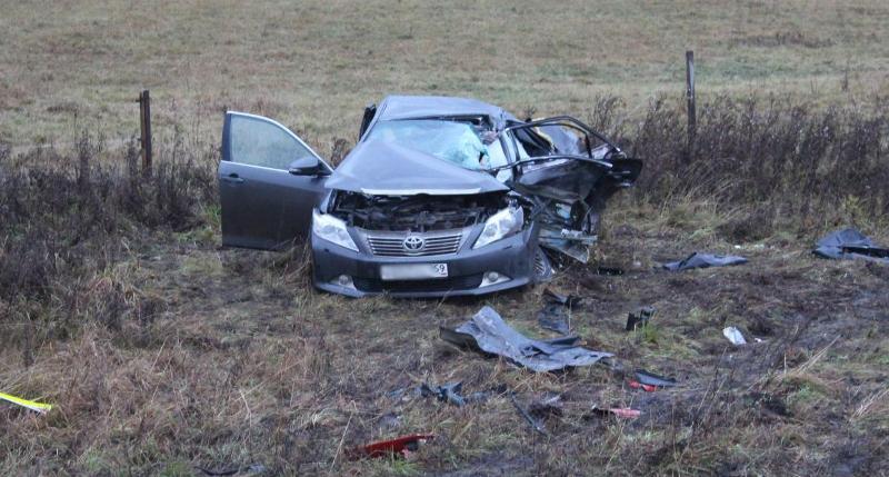 «Тойота-Камри» после аварии