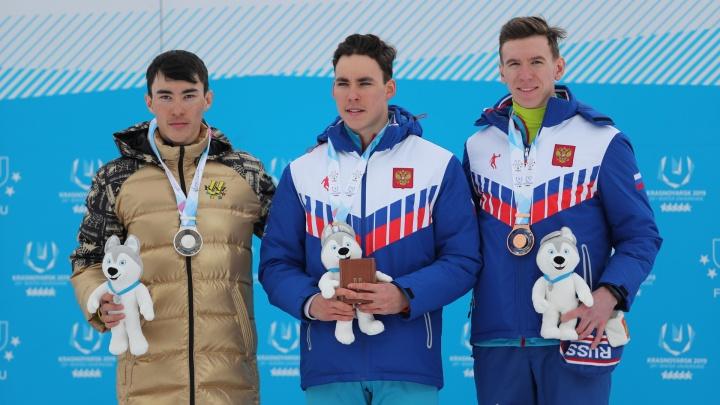 Лыжник из Новосибирска пришёл на финиш четвёртым, но всё равно получил бронзу Универсиады