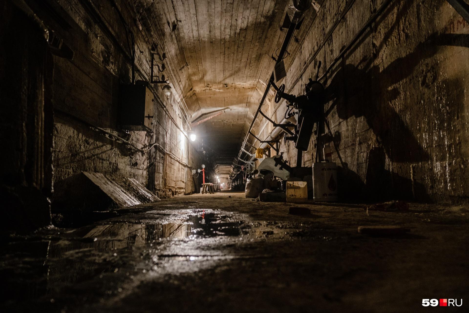 Вода здесь везде — даже в тоннелях