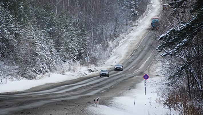 На Южном Урале из-за снегопада с дороги съехал пассажирский автобус