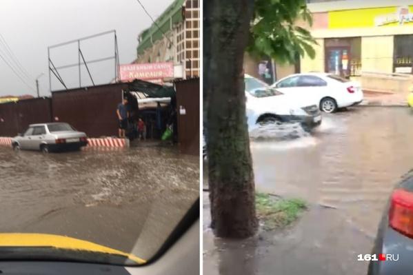 Вместо дорог ростовские автомобили рассекают по рекам
