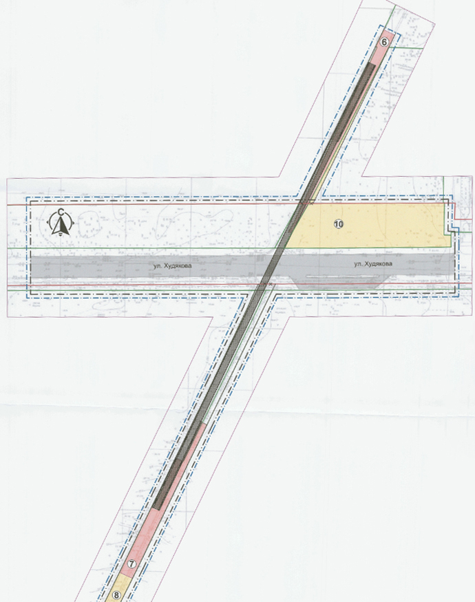На этой схеме тёмно-серым обозначен будущий мост