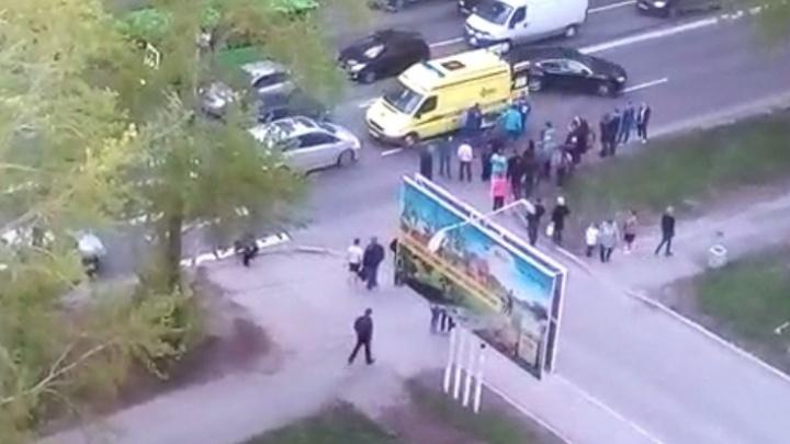 На Амундсена на пешеходном переходе сбили человека