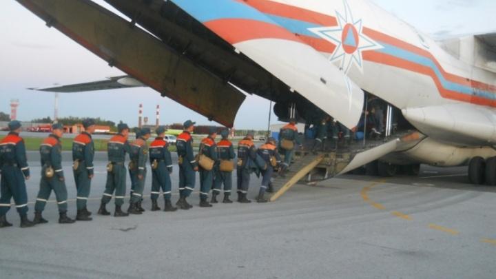 Спешат на помощь: две сотни новосибирских спасателей вылетели на помощь жертвам тайфуна в Приморье