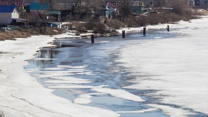«Соответствует прогнозам»: в Поморье ледоход задерживается в Верхнетоемском районе