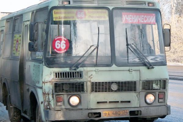 66-й маршрут обслуживали муниципальные автобусы и частные