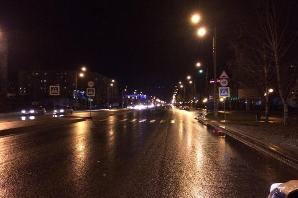 На улице в момент аварии с участием KIA Picanto было темно