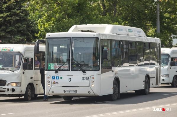 АТП-3 обслуживало маршрут №18 Микрорайон «Суворовский» — Площадь К. Маркса