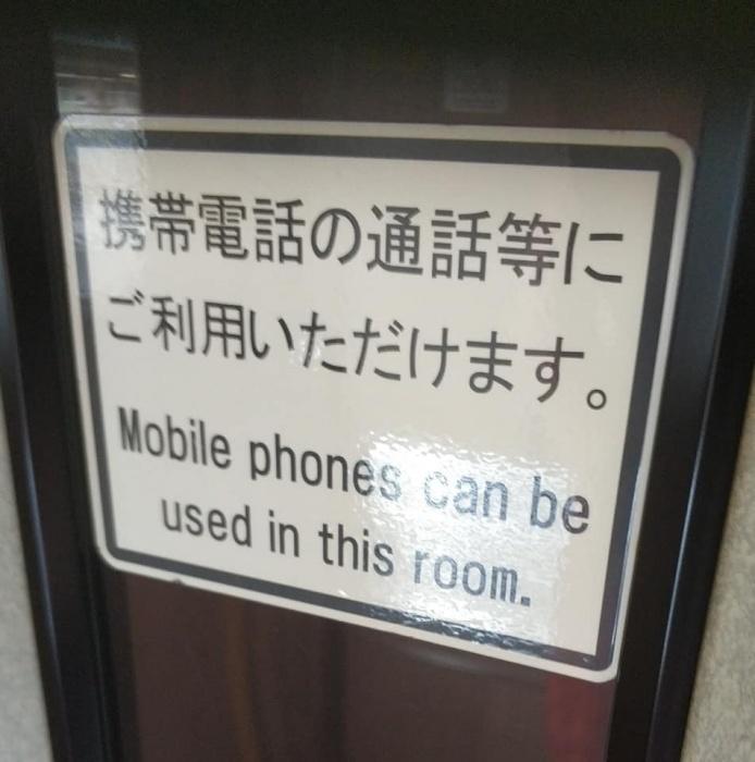 Эта табличка говорит о том, что в вагоне можно болтать по телефону