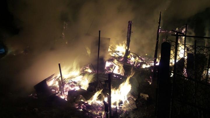 На Широкой Речке семья с маленьким ребёнком пряталась в теплице, пока горел их дом