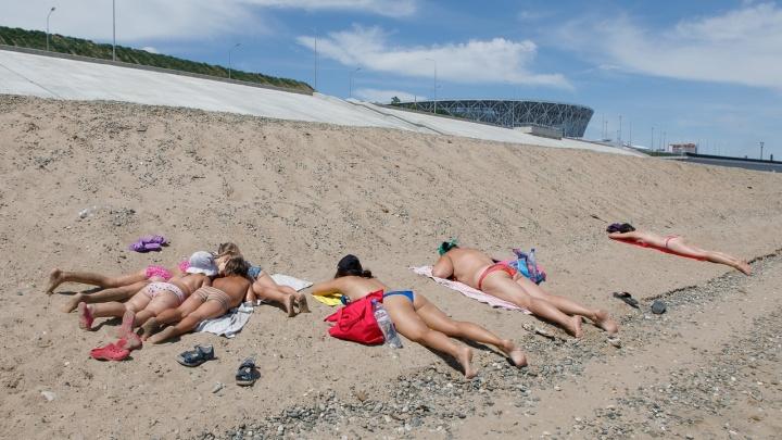 «В планах его нет»: Центральный пляж превратился в дикое место рядом с «Волгоград Ареной»