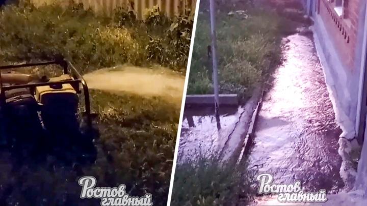 Ростовчане пожаловались, что сотрудники «Водоканала» затопили несколько домов