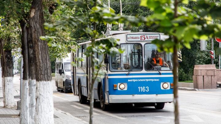 В Волгограде пьяный мужчина пытался забодать троллейбус