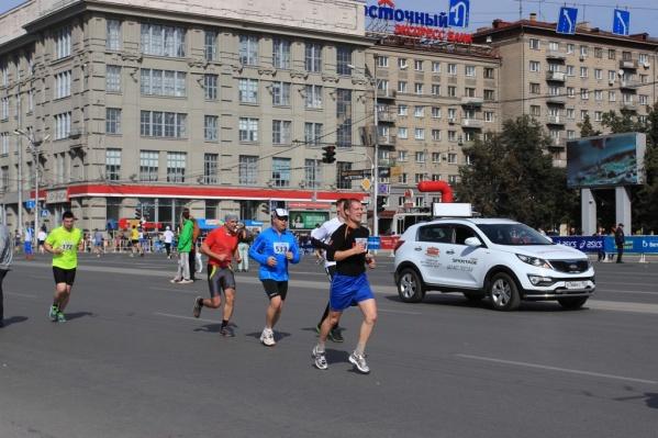 Сибирский фестиваль бега на Красном проспекте