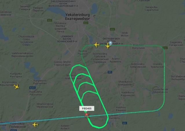 Пилот сделал 17 кругов над Кольцово